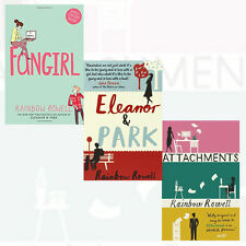 Rainbow Rowell Collection (Eleanor & Park ,Fangirl,Attachments) 3 Books Set