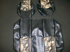 Club Car DS '99 dwn Hunting Golf Cart Deluxe™ Seat Covers-Staple On(Blck w/Camo)