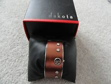 New Dakota Ladies Quartz Watch - Unusual - Pretty Copper with Black Leather Band