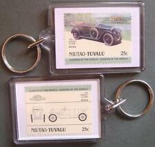 1920 CROSSLEY 25/30 HP Car Stamp Keyring (Auto 100 Automobile)