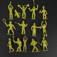 PALMER 1950s 14 Yellow Circus Performers & Figures Marx Timmee