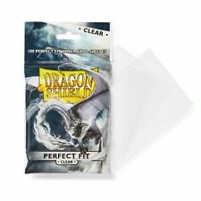 Dragon Shield 100 - Perfect Fit Deck Protector Sleeves -Clear -MTG Pokemon