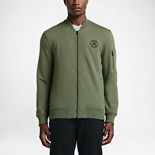 NEW Men's Converse MA-1 Fleece Bomber Jacket Size: Large Color: Olive Heather