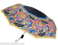 Laurel Burch Carlotta's Cats COMPACT Umbrella Auto Open Close Large Canopy NEW