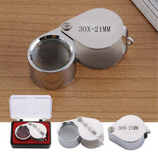 30X 21mm Lighted LED Illuminated Jewelers Jewelry Loupe Magnifying Glass Lens