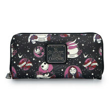 Nightmare Before Christmas Character Flash Tattoo Faux Leather Zip Around Wallet