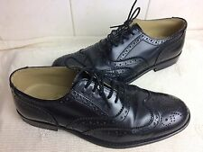 THISTLE SHOES Scotland Black Leather Ghille Piper Brogue UK7