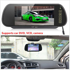 "New 7"" LCD Screen Car SUV Rear View Backup Parking Rearview Mirror TFT DVD Color"