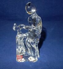 Orrefors Crystal Glass Figure Shoe Maker Signed to Base Original Label and Box