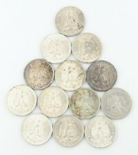 1921-1945 Mexico 50 Centavos Lot (13 Coins) Fine-Mint State Silver Fifty KM-447