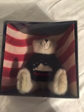 Mary Meyer Americana 1995 Green Mountain Signature Teddy Bear SIGNED. Boxed.