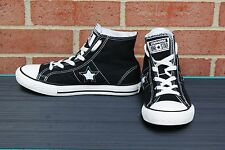 Converse One Star Junior High Top Shoes - Youth Size 3 - Black & White
