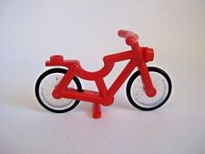 Lego RED BICYCLE for Minifigures CITY Town Bike