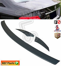 MERCEDES C CLASS W204 AMG REAR TRUNK BOOT LIP SPOILER 2007 UP MATT BLACK 3 PCs