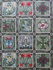 William and May Art Deco Floral Tiles In The Beginning Fabric Yard