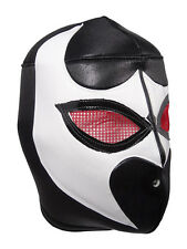 BLACK VIPER (pro-fit) Wrestling Halloween Mask Lucha Libre - Black/White