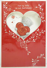 ME TO YOU FOR MY WIFE ON OUR ANNIVERSARY TATTY TEDDY BEAR CARD NEW