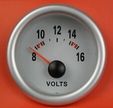 S2 52mm Volt Meter / Voltage gauge w/Blue light Honda Civic Prelude S2000 CRX