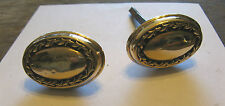 ANTIQUE PAIR OF VICTORIAN BRASS OVAL DOOR KNOBS