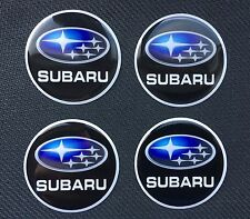 SUBARU ALLOY WHEEL CAP STICKER CENTRES  60MM (DOMED PLASTIC) Digital Logo X4