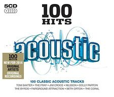 100 HITS-ACOUSTIC( Kristofferson, Kris, Cash, Johnny,  Parton, Dolly) 5 CD NEU