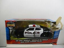 1/24 SCALE JADA BADGE CITY HEAT BLACK / WHITE POLICE 2006 DODGE CHARGER