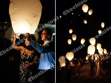 20x White Paper Chinese Lanterns Sky Fly Candle Lamp for Wishing Party Wedding
