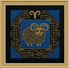 Zodiac Sign Aries Cross Stitch Kit - Riolis - (R1201) - 25cm x 25cm