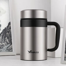 WAYA Thermos Cup Insulated Vacuum Travel Mug Tumbler w/Tea Infuser Handle 14oz
