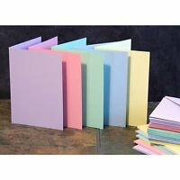 Craft UK blank greeting cards & envelopes - A6/C6 size pastel colours x 50