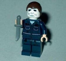 "MOVIE Lego Classic Horror Halloween ""MICHAEL MYERS"" Custom NEW Genuine Legos #3A"