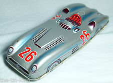 SPLENDID OLD VINTAGE TIN TOY FRICTION MERCEDES RACING RACE SPORTS CAR C 1950S