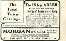 1909 Ideal Town Carriage 15 Hp Adler Morgan 10 Old Bond Street £550 Ad