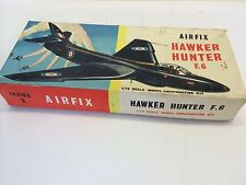 Rare Vintage Boxed Airfix Series 2 Hawker Hunter F.6. 1st Type Box 1963 Only