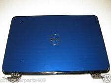 """GENUINE Dell Inspiron N4110 14"""" Blue  Top Lid Cover with hinges (13)P/N KXDFR"""