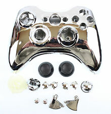 Replacement Custom Chrome Silver Xbox 360 Controller Shell Case.