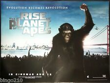 RISE OF THE PLANET OF THE APES ORIGINAL CINEMA 2011 QUAD POSTER ANDY SERKIS