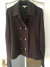 ⭐️Laura Ashley⭐️100% Lambswool Military Style Jacket Formal Cardigan Size 12 A03