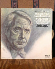 Charles Munch Beethoven Schubert LP RCA gold seal M-