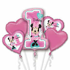 NEW Baby Minnie Mouse 1ST Birthday Balloon Bouquet Party Decoration Supplies~