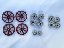 LEGO  - Joblot Of Wheels In Different Sizes, Wagon Motorbike Car / 14 Pieces
