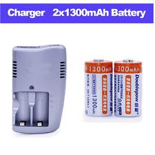 2pcs1300mah 3v CR123A recargable Litio batería con Cargador para rg-88 D 760