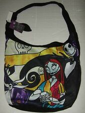 Nightmare Before Christmas Jack Sally & Zero Stained Glass Hobo Tote Bag Disney