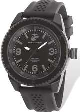 US Marines Wrist Armor C20 Stealth Dial Watch, Black Rubber Strap
