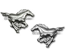2 - BRAND NEW Ford Mustang HORSES chrome badge emblems (HORSE) L and R