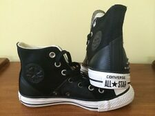 Converse Chuck Taylor All Star High Top Black with Studs Women US Size 6- FREE S