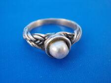 Perli Design Ring 835 Silber mit Perle Ø 17mm Modernist 60er / 70er