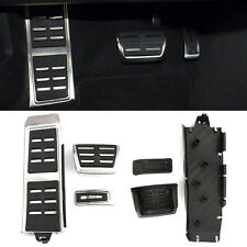 For Audi A4 B8 S4 RS4 A7 A6 3Pcs Auto Transmission Foot Rest Fuel Brake AT Pedal