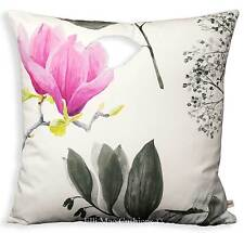 Designers Guild Mokuren Luxury Designer Fabric Graphite Pink Cushion Cover