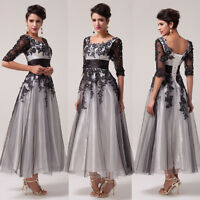 SIZE 2-16/18W+Long Masquerade Ball Gown Party Evening Wedding Guest PROM Dresses
